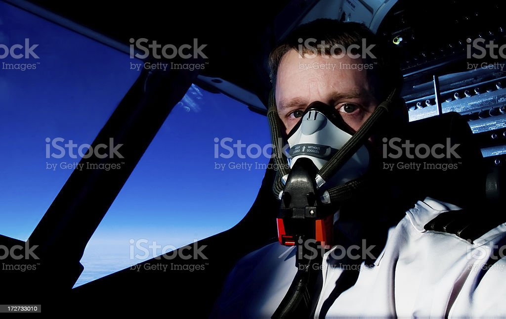 pilot mask royalty-free stock photo