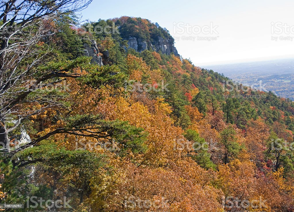 Pilot Mountain in North Carolina royalty-free stock photo
