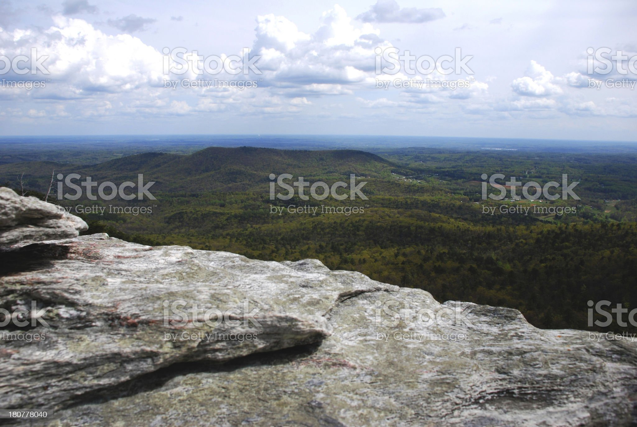 PIlot Mountain, North Carolina royalty-free stock photo