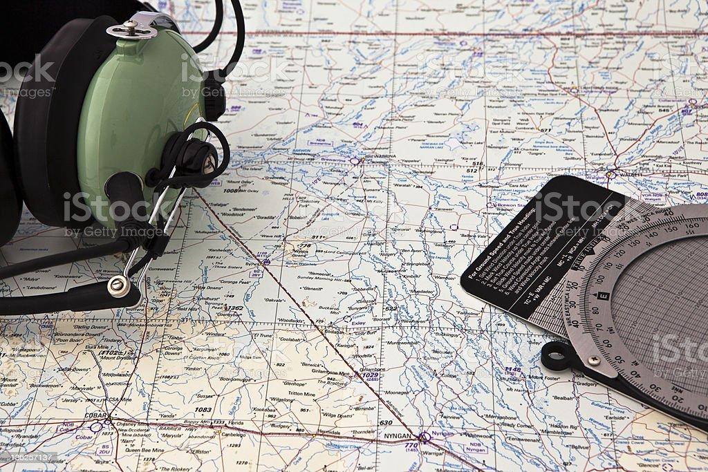 Pilot navigation royalty-free stock photo
