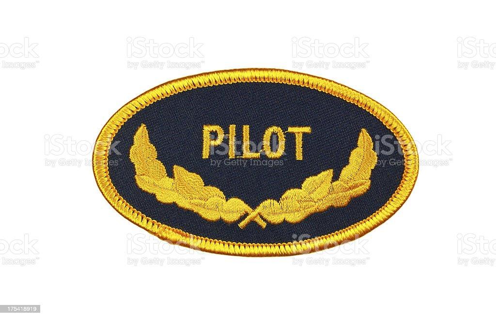Pilot Patch stock photo