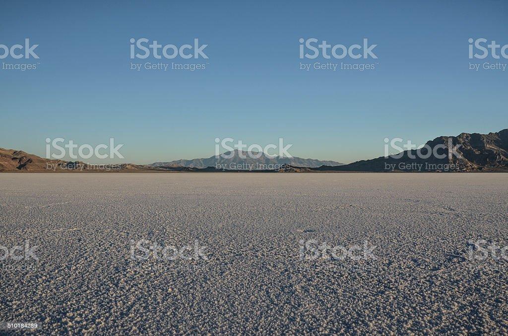 Pilot Peak from the Bonneville Salt Flats August Early Morning stock photo