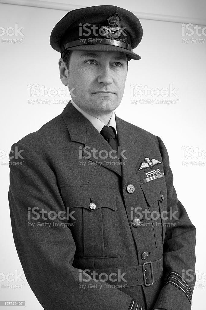 WWII RAF Pilot royalty-free stock photo
