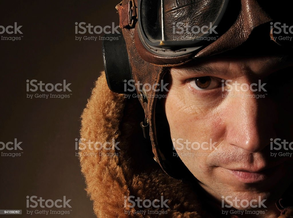 WW2 RAF Pilot stock photo