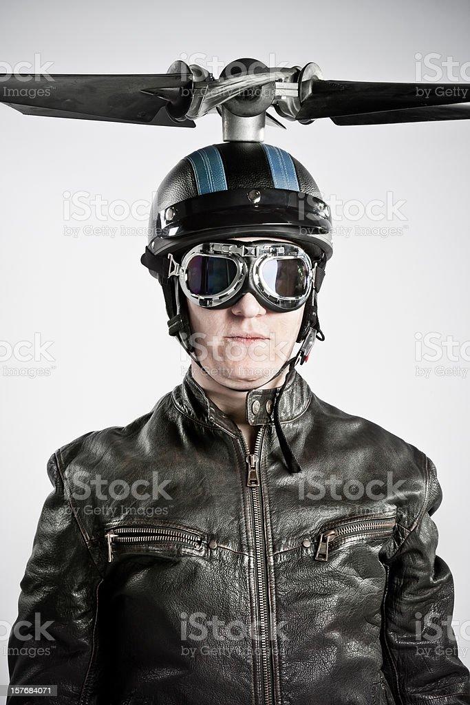 Pilot portrait royalty-free stock photo