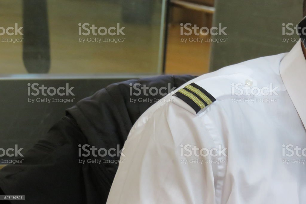 Pilot ranks stock photo