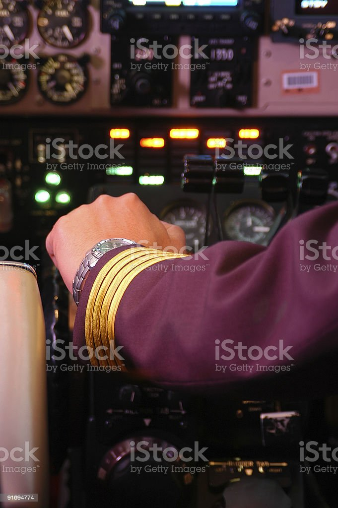 Pilot ready for take off royalty-free stock photo