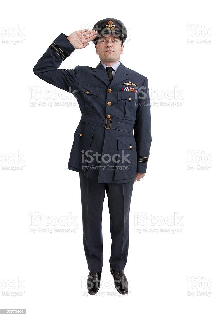 Pilot Salute stock photo