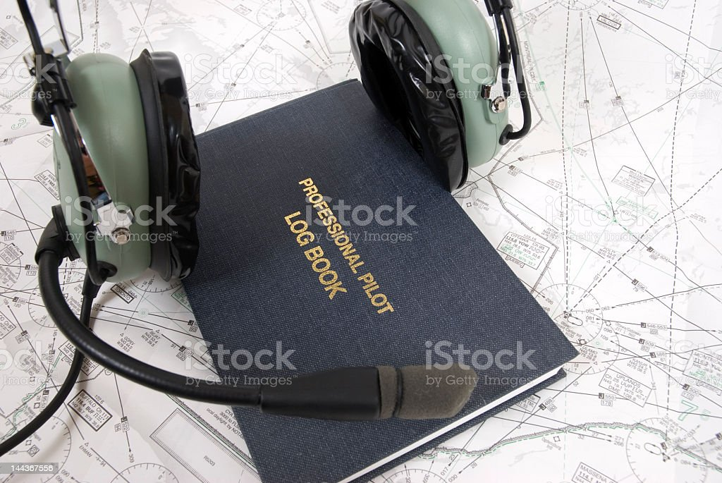 Pilot Supplies royalty-free stock photo