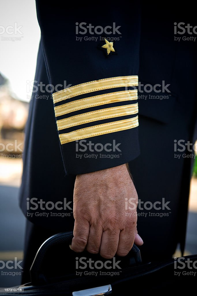 Pilot uniform royalty-free stock photo