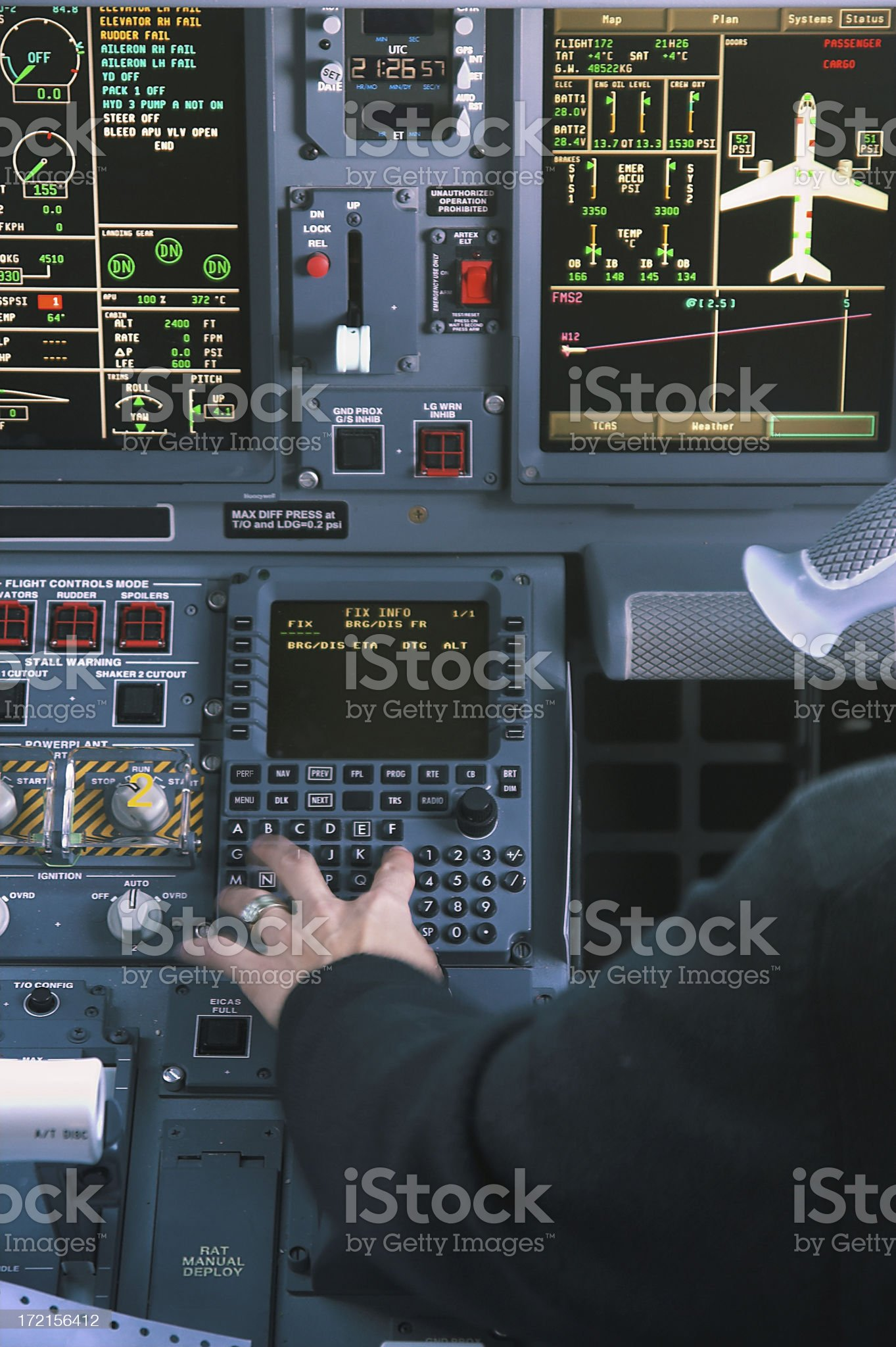 Pilot woman royalty-free stock photo