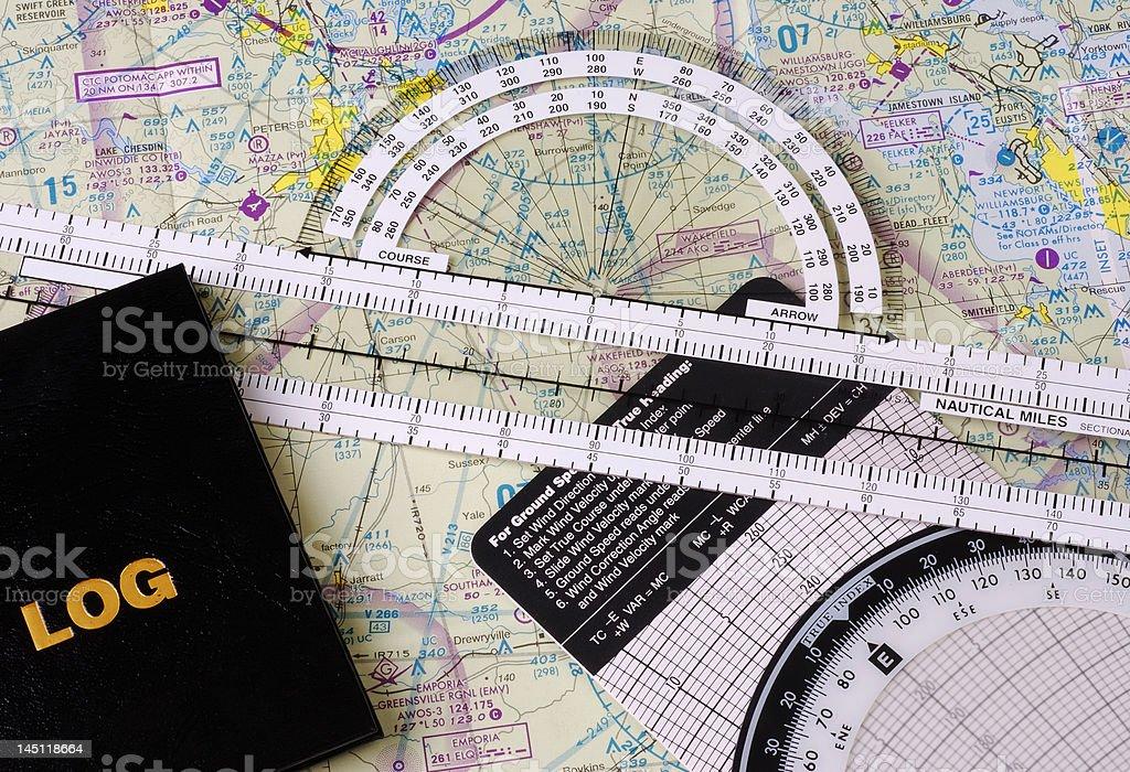 PilotAAs Navigational Gear stock photo