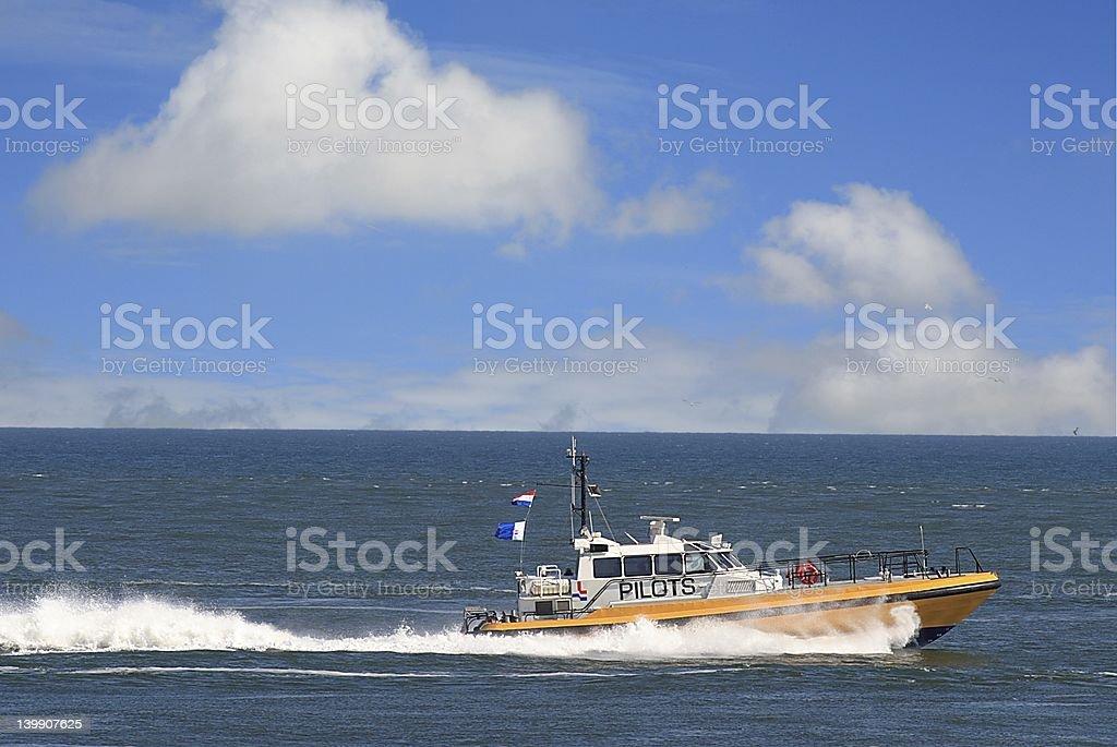 Pilotboat royalty-free stock photo