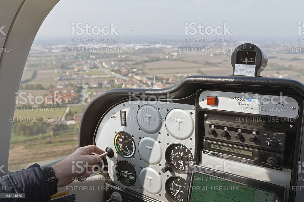 Piloting royalty-free stock photo
