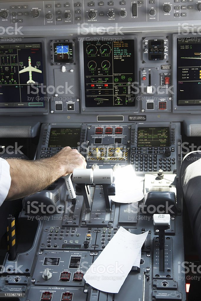 Pilots at work. royalty-free stock photo