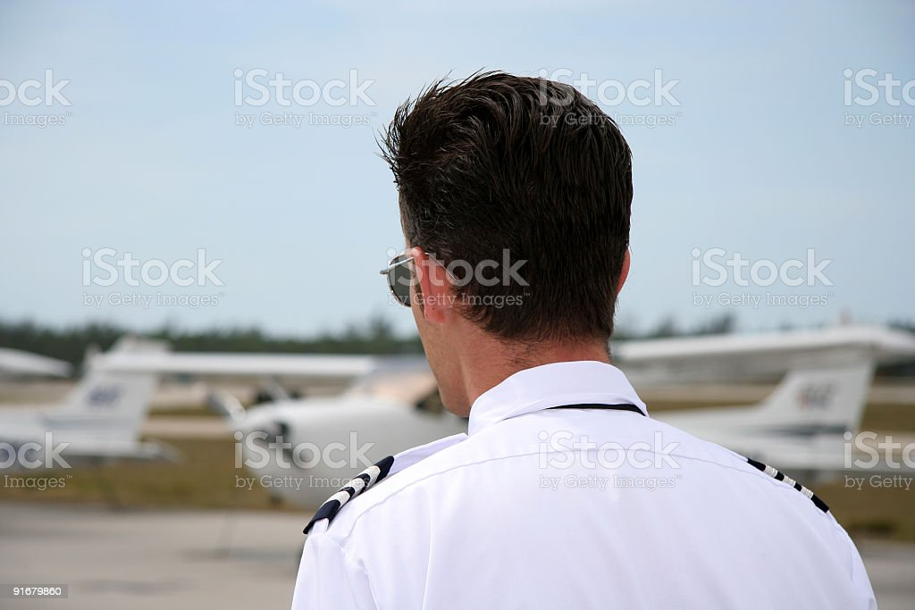 Pilot's back royalty-free stock photo
