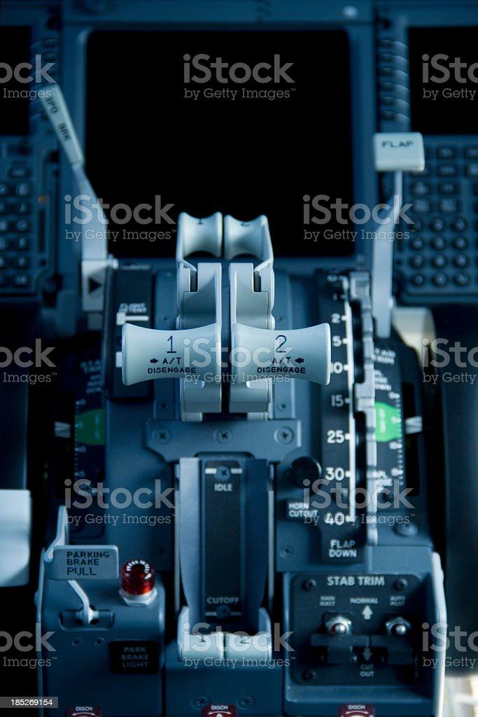 Pilots cabin / detail royalty-free stock photo