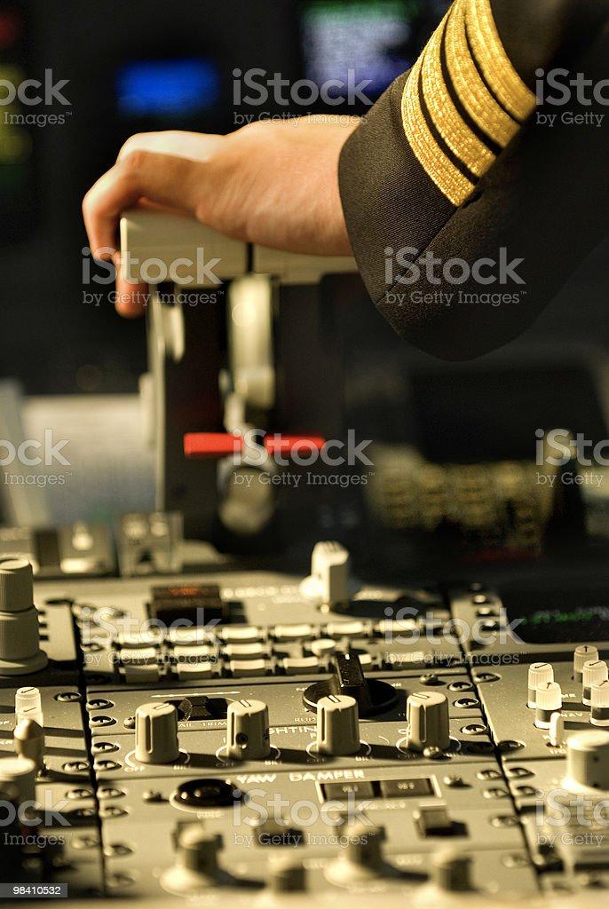 Pilots cabin / detail stock photo