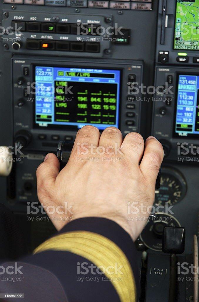 Pilots cabin royalty-free stock photo