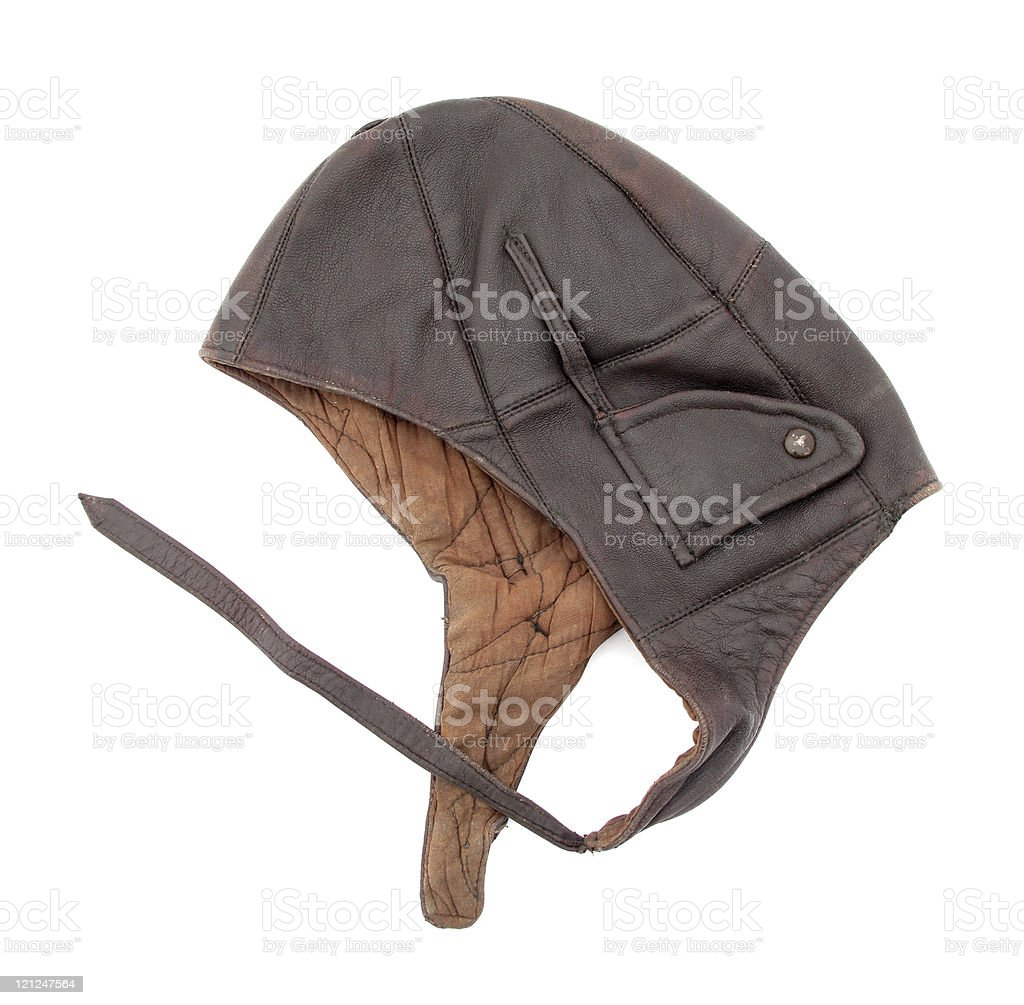 Pilot's cap stock photo