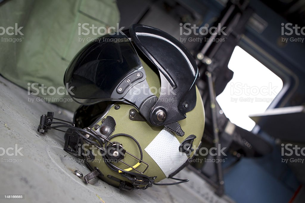 Pilots Helmet stock photo