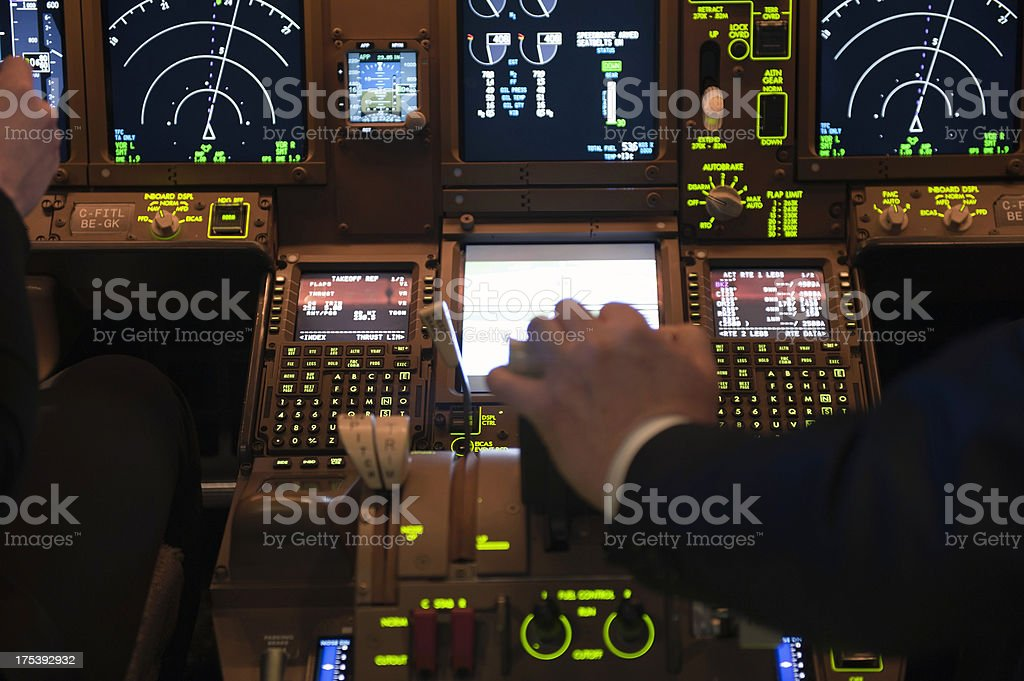 Pilots in the Cockpit royalty-free stock photo