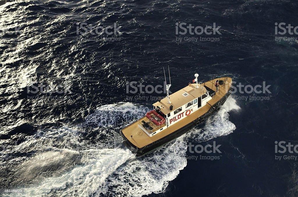 Pilot-vessel royalty-free stock photo