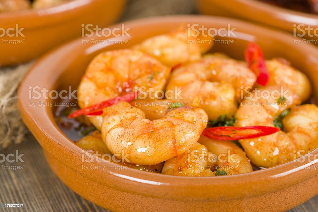 Gambas PilPil royalty-free stock photo