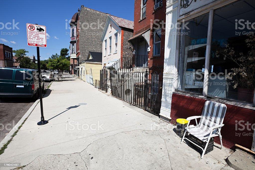 Pilsen Neighborhood of Chicago stock photo