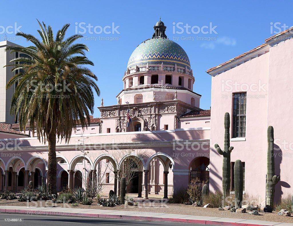 Pima County Courthouse royalty-free stock photo