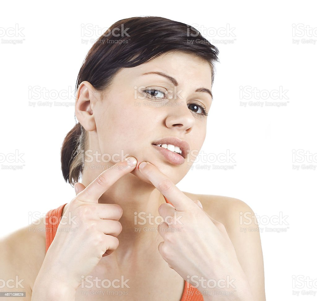 Pimple stock photo