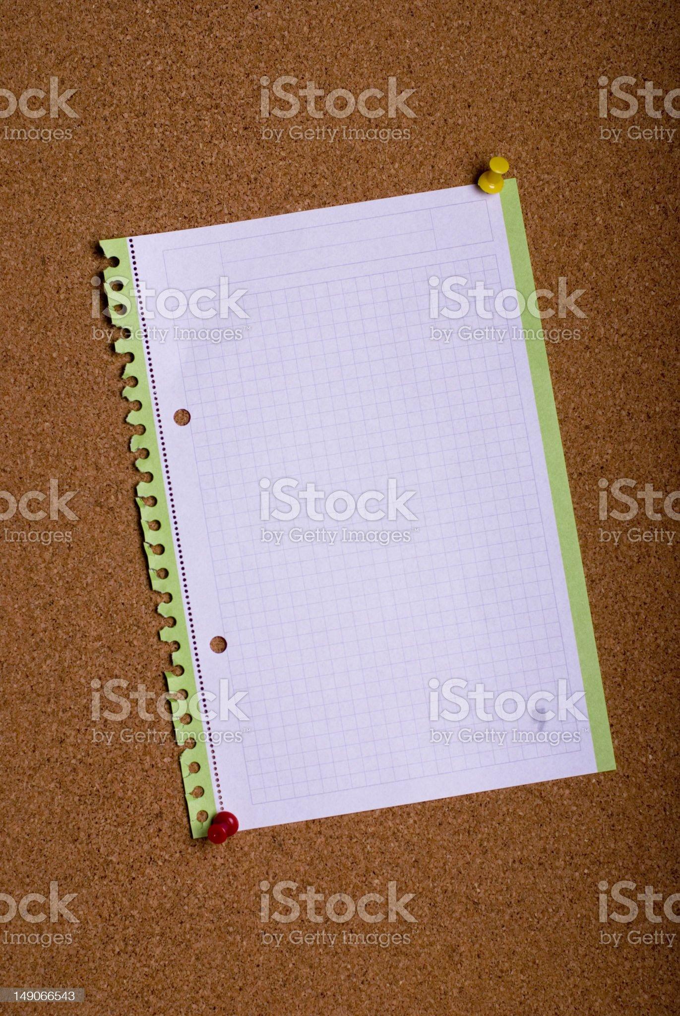Pin board royalty-free stock photo