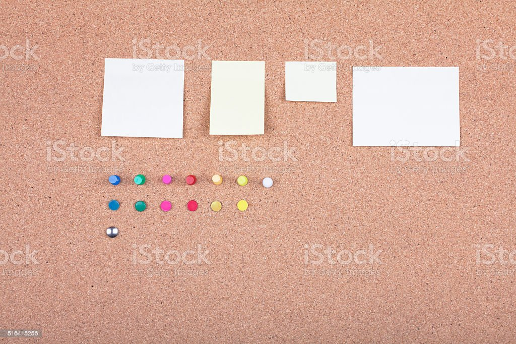 pin board with wooden frame - Stock image stock photo