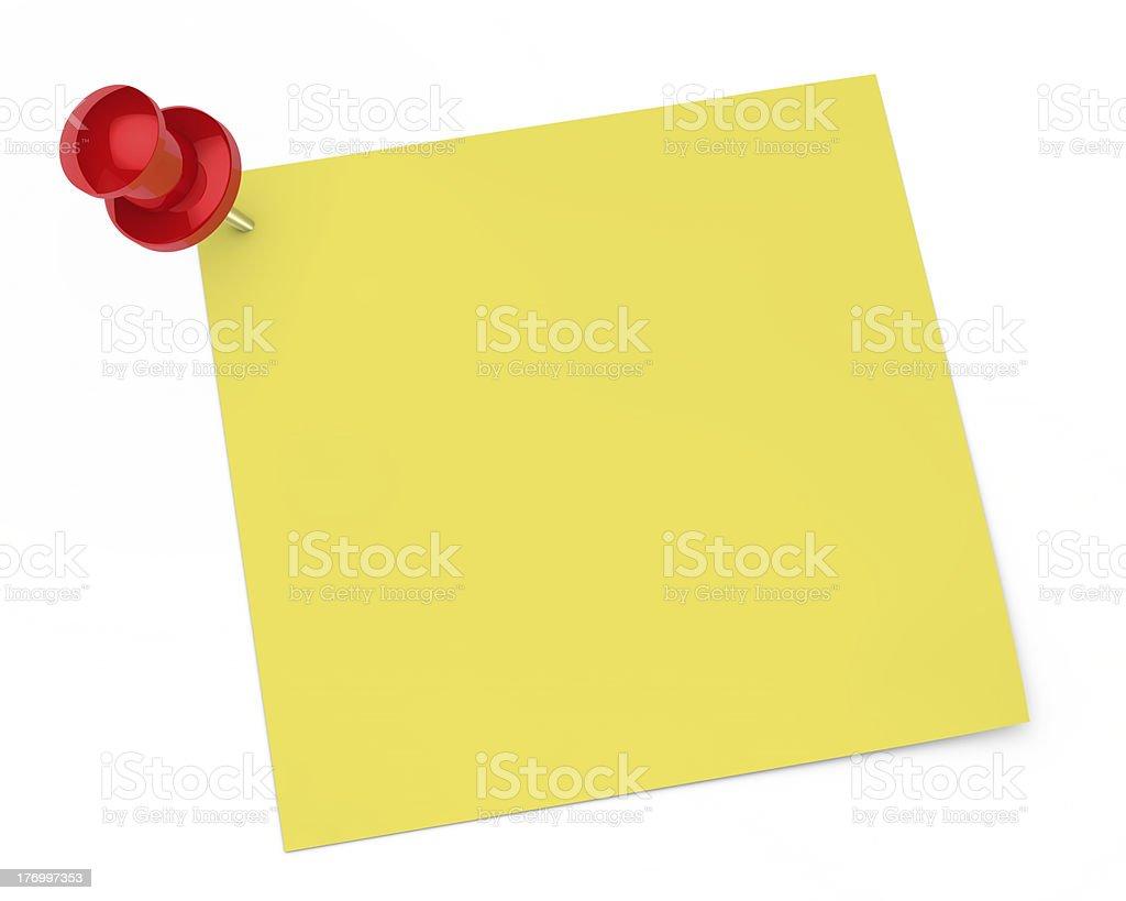 pin notepaper stock photo