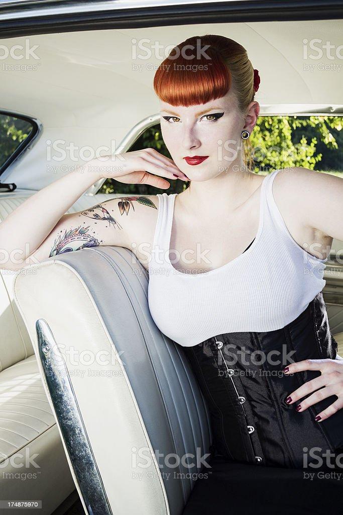 Pin up girl stock photo