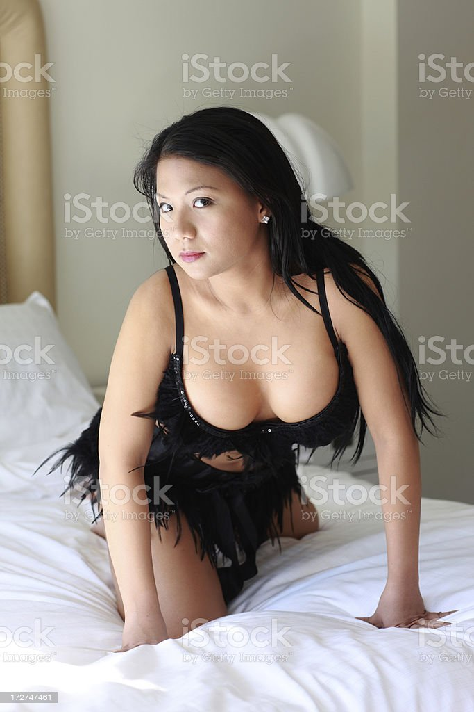 Pin up in Bedroom stock photo