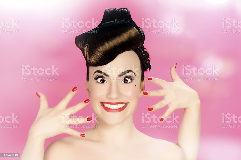 pin up rolling eys royalty-free stock photo