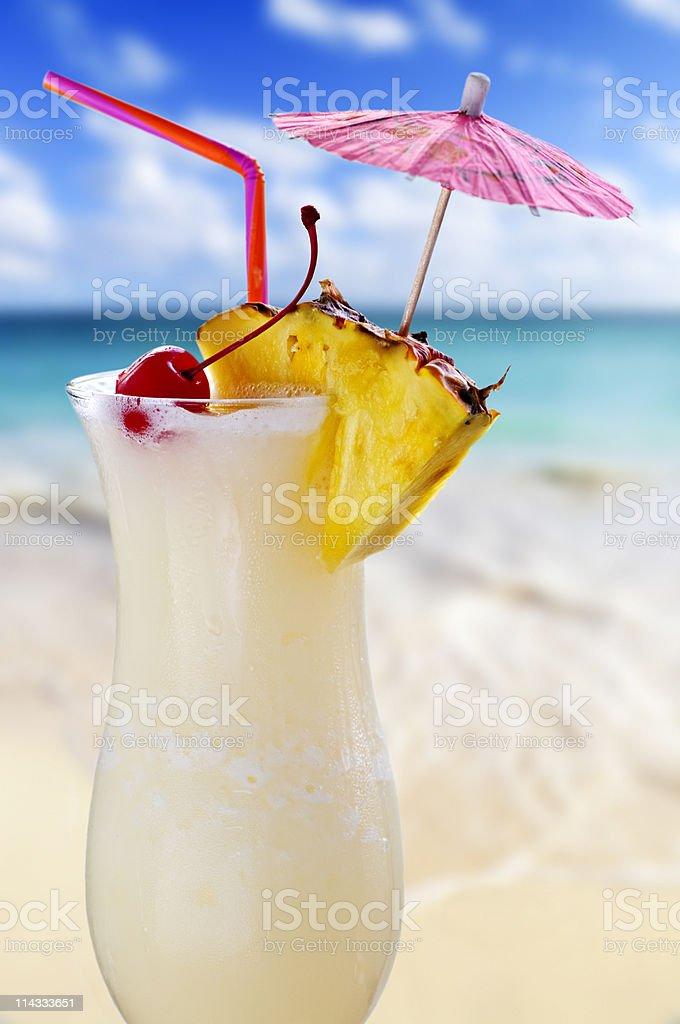 Pina colada cocktail royalty-free stock photo
