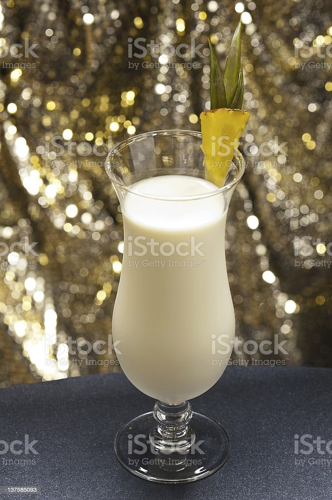 Pina Colada in front of beautiful background royalty-free stock photo