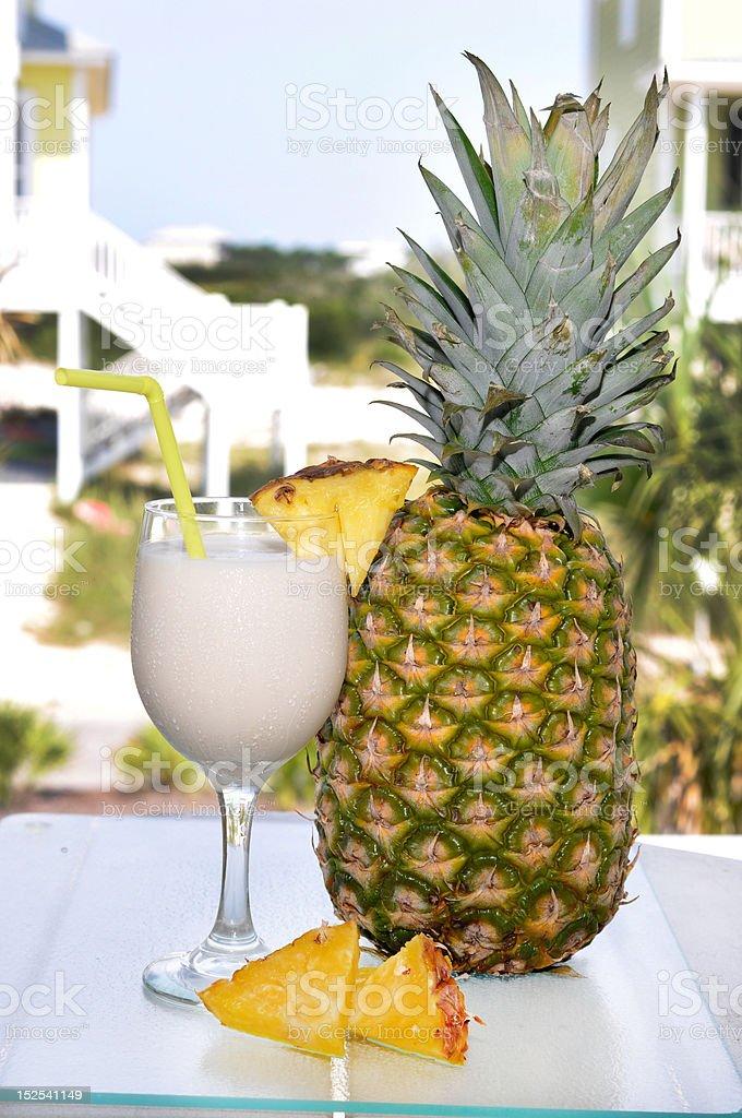 Pina Colada with Pineapple stock photo