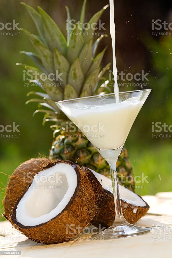 pinacolada cocktail royalty-free stock photo