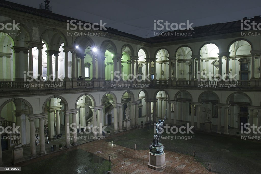 Pinacoteca di Brera, Milan stock photo