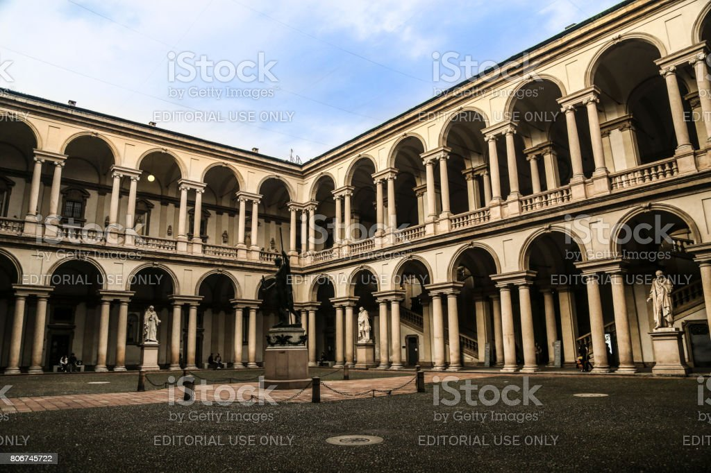 Pinacoteca di Brera stock photo