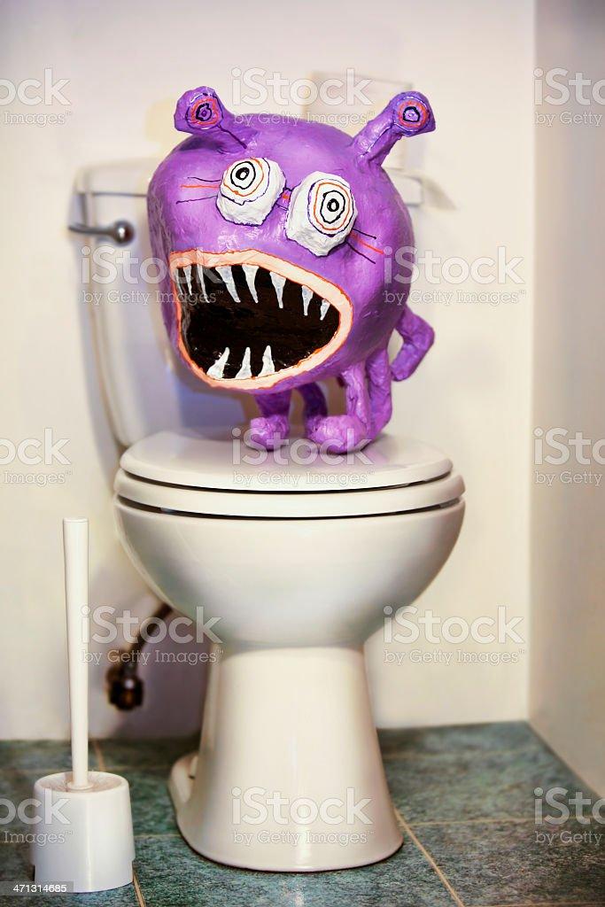Pinata on Toilet stock photo