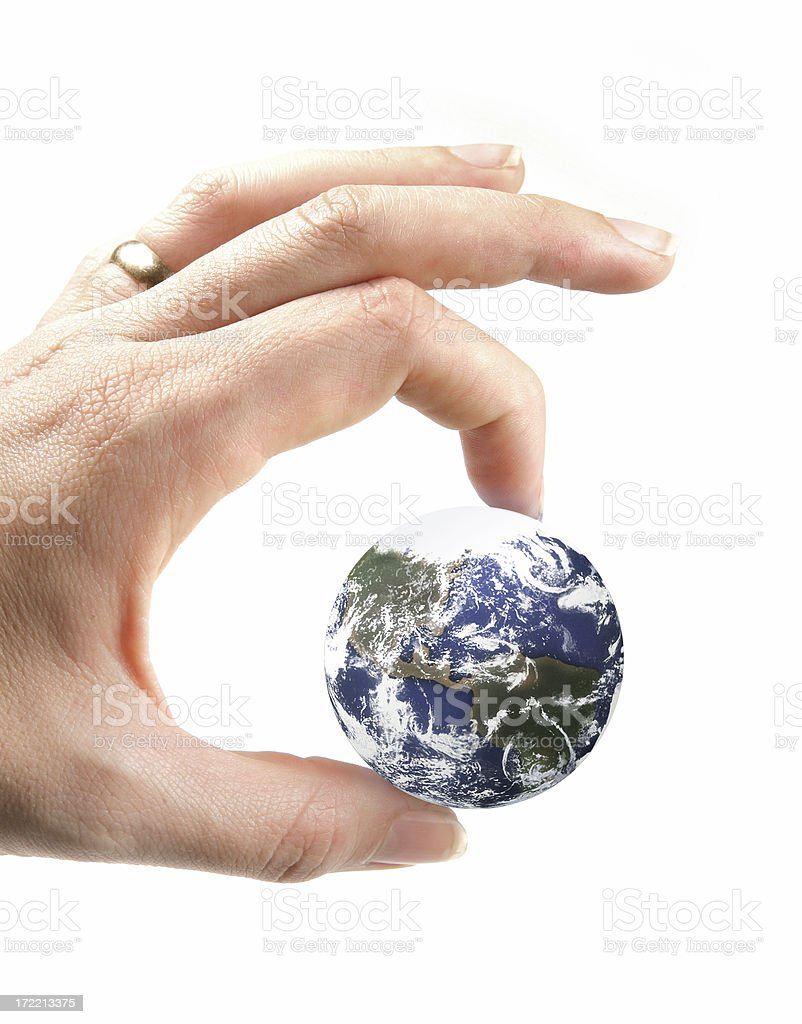 Pinch the World royalty-free stock photo