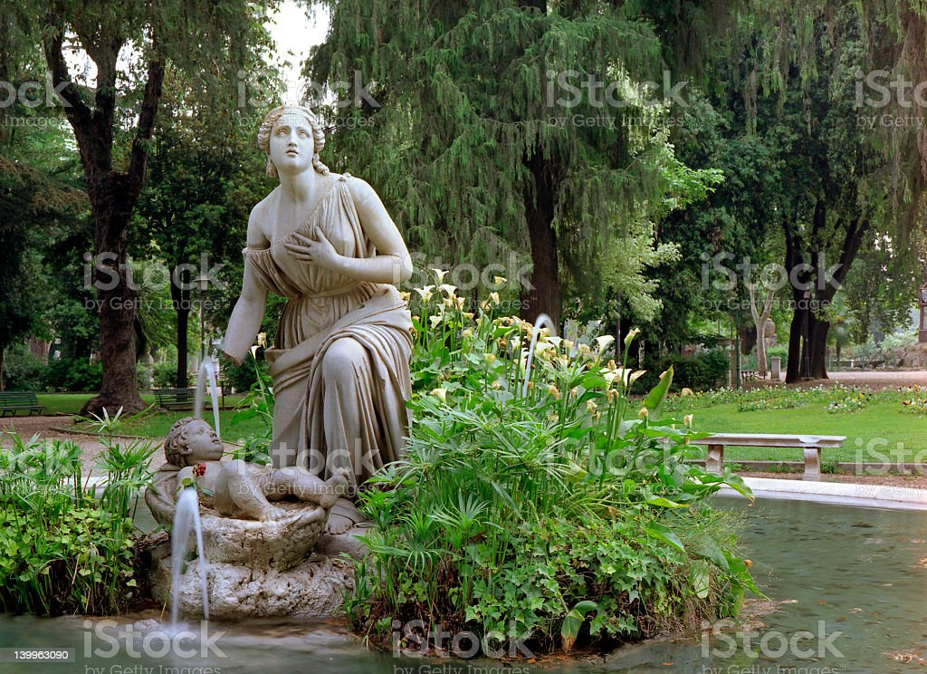 Pincio, Rome stock photo
