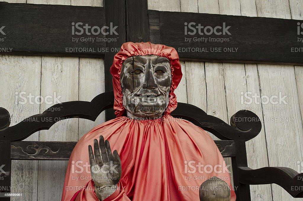 'Pindola statue at Todai-ji temple in Nara, Japan' stock photo