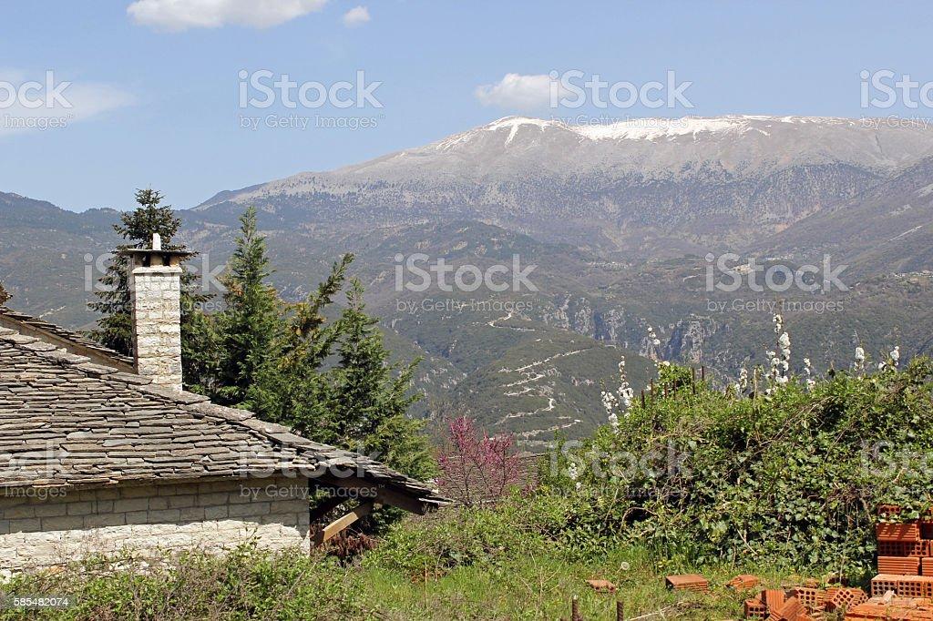 Pindos Mountain Vista stock photo