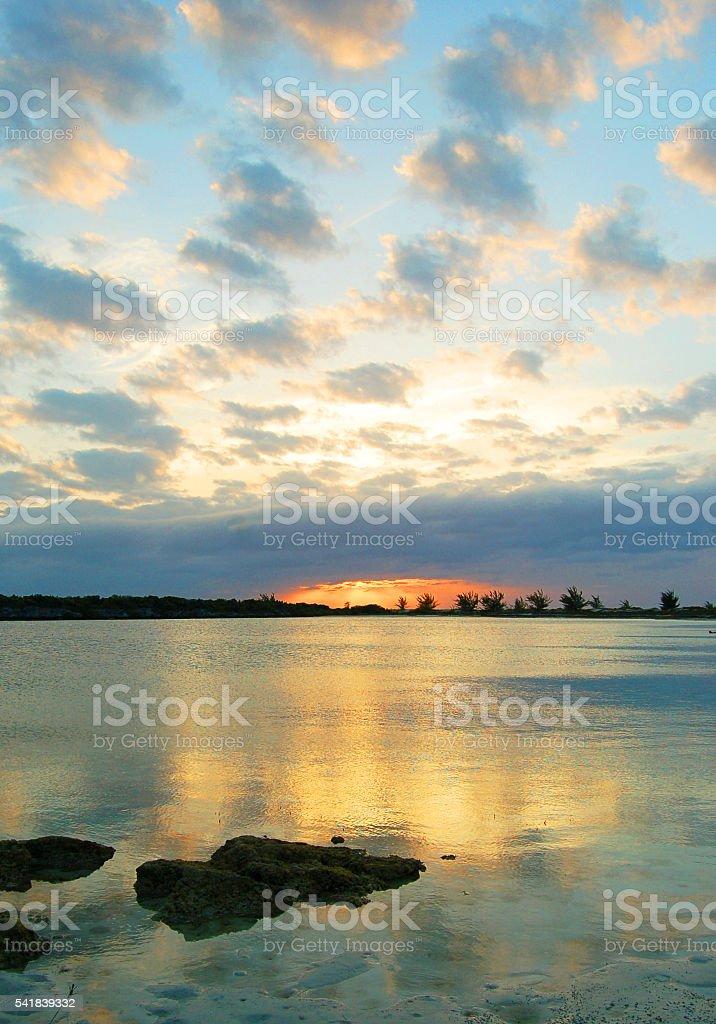 Pine Cay Sunset stock photo