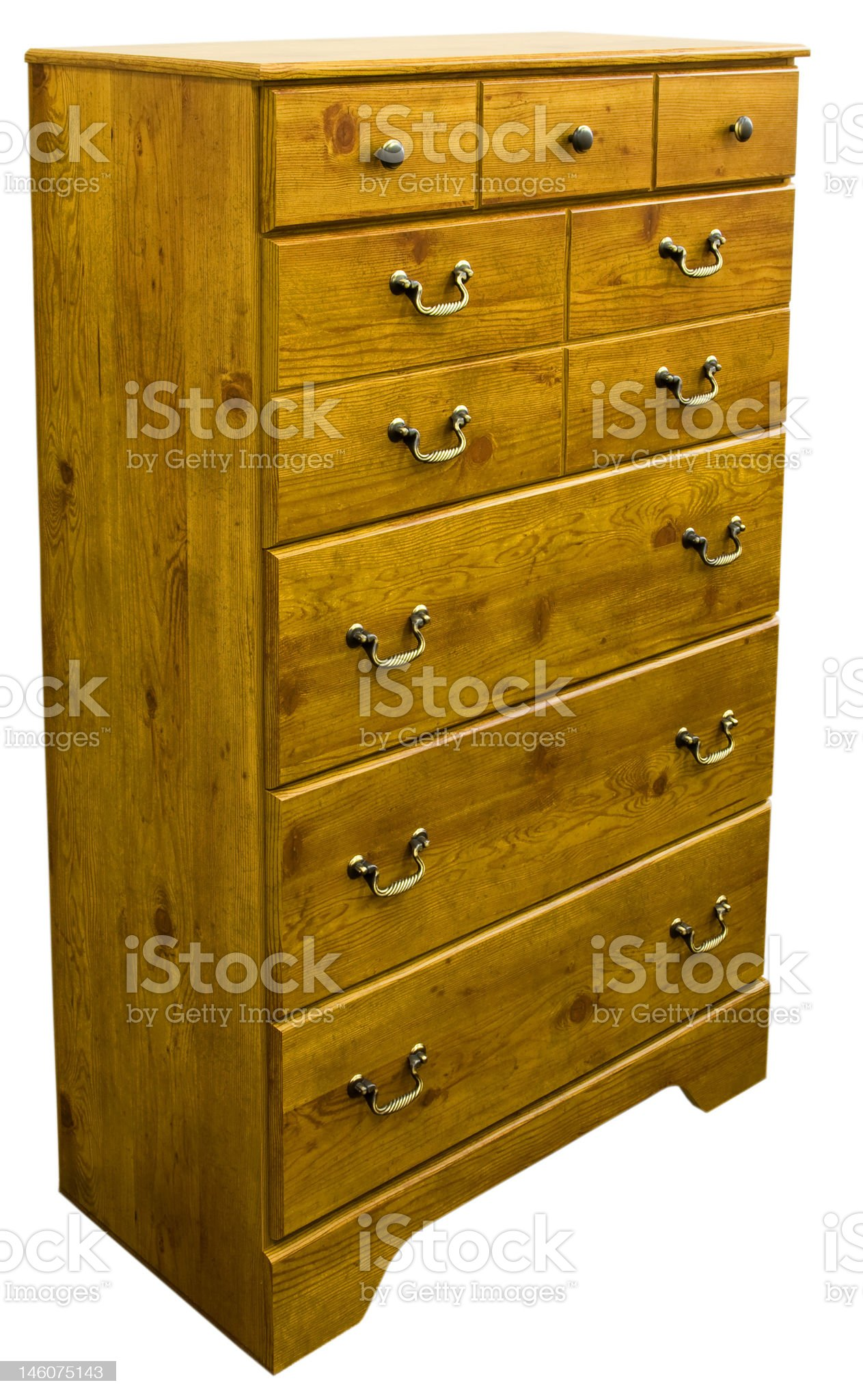 Pine Chest of Drawers royalty-free stock photo